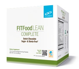 FIT Food Lean Complete Sugar and Stevia Free Dutch Chocolate 10 Serv