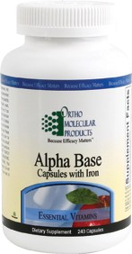 Alpha Base Capsules w/Iron 240 Capsules